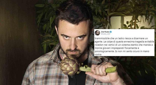 Chef Rubio, il fratello del poliziotto ucciso reagisce al tweet: ti auguro di perdere un caro