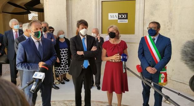L'Aquila scopre il Maxxi: l'inaugurazione con il ministro Franceschini a palazzo Ardinghelli