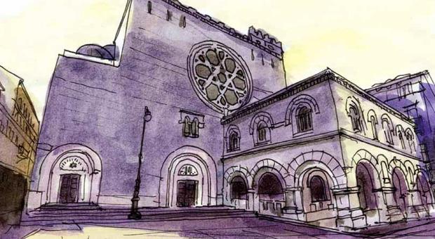 La sinagoga di Trieste nel disegno di Pierfranco Fabris