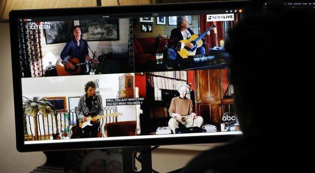 Zucchero e Bocelli con Lady Gaga, Rolling Stones, Paul McCartney, Elton John nello show per l'Oms