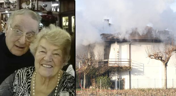 Esplosione questa mattina in una villetta nel Padovano : le vittime Enrico Fontanella, 87 anni, originario Varese, e la moglie Norma Todesco, 85 anni