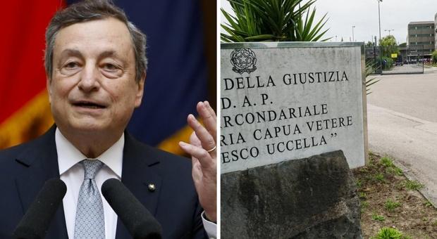 Draghi e Cartabia domani in visita al carcere di Santa Maria Capua Vetere, teatro dei pestaggi ai detenuti