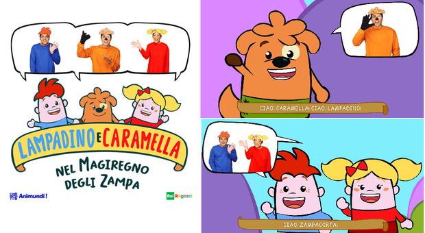 """Il cartone """" Lampadino e Caramella"""" arriva in radio anche per bambini non vedenti: si entra recitando la formula magica"""