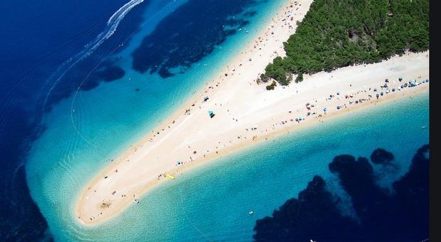 La spiaggia di Zlatny Rat sull'isola di Brac