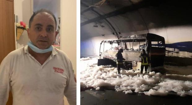 Lecco, incendio del bus: «Così ho salvato i 25 ragazzi nella galleria», il racconto dell'autista della Croce Rossa