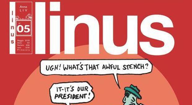 """Cover Linus """"Maggio"""" un'opera di Art Spiegelman"""