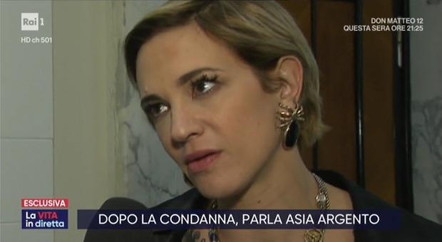 La Vita in Diretta, Asia Argento su Weinstein: «La denuncia? Fiera di averlo fatto»