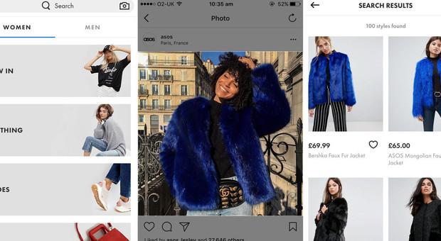 74ec76e47dfe Basta uno screenshot e trovi il look  tutte le app per lo shopping online