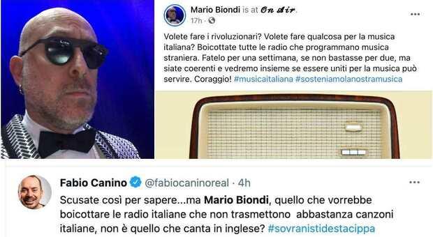 Mario Biondi: «Boicottate le radio che trasmettono musica straniera». La risposta: «Ma non canti in inglese?»