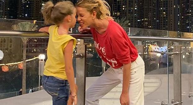 Alessia Marcuzzi e la figlia Mia Facchinetti a Dubai (Instagram)