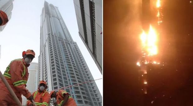 Dubai, inferno di cristallo in grattacielo tra più alti del mondo: migliaia di sfollati