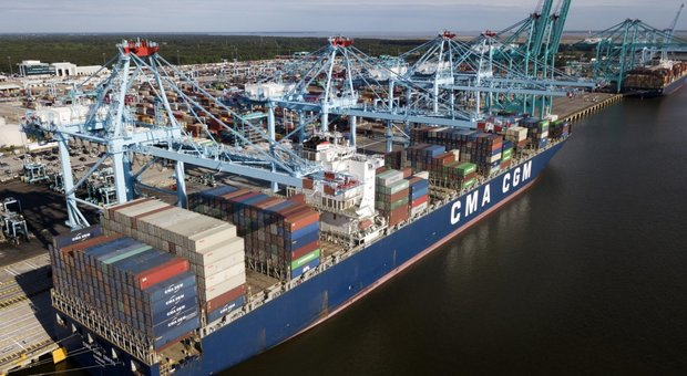 Container a Norfolk in Virginia, Stati Uniti