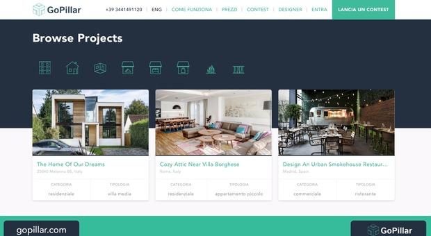 Gopillar la piattaforma online che connette architetti e for Ristrutturare casa in economia