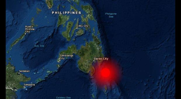 Terremoto al largo delle Filippine