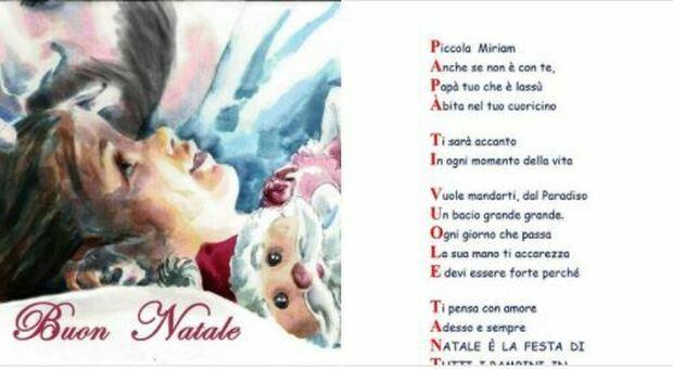 Campobasso, «Babbo Natale riportami il mio papà»: la lettera di Miriam, 6 anni, commuove il web. E Santa Claus risponde così