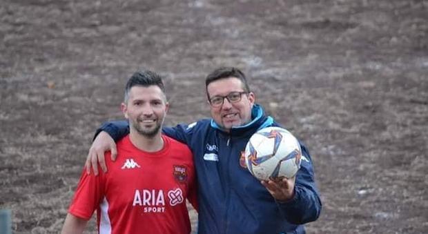 Tiziano Fioravanti (a destra) con il tecnico Simone Scaricamazza: entrambi hanno lasciato il Selci