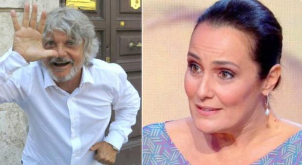 """Estate in Diretta, Massimo Ferrero e la """"proposta"""" a Roberta Capua. Lei replica: «Ci sta guardando mio marito»"""