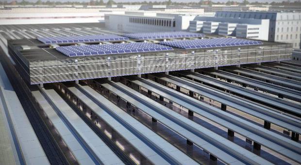 Grandi stazioni, una distesa di luce come tetto della stazione Termini: nasce un parco fotovoltaico da record