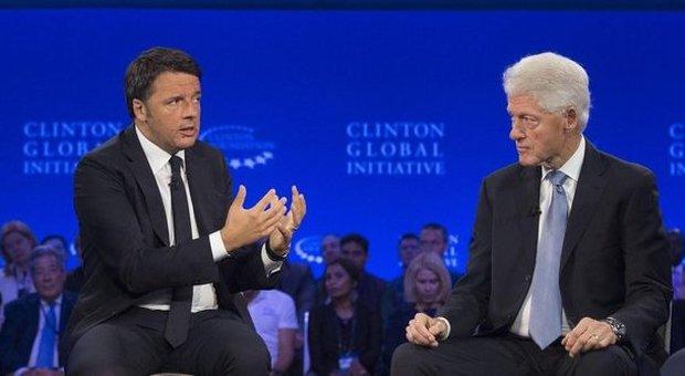 Renzi ospite di Bill Clinton a New York: rischio Ue non è Russia ma Ungheria