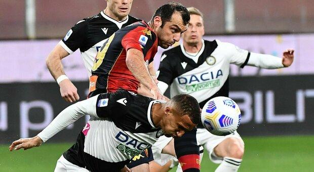 Il Genoa scappa, l'Udinese lo riprende. Pandev e De Paul confezionano l'1-1