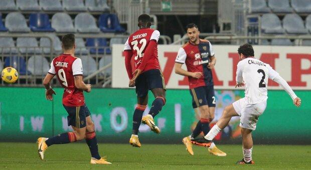 Pagelle Cagliari-Milan, Ibrahimovic trascinatore, Calabria è ovunque