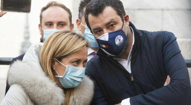 Giorgia Meloni e Matteo Salvini: «Elezioni subito». La leader Fdi: «Governo  allo sfascio»