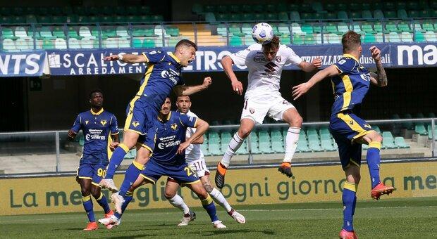 Hellas Verona-Torino 1-1, la sblocca Vojvoda all'85'. La replica di Dimarco a 2' dal triplice fischio