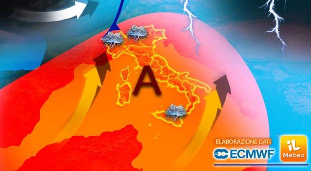Meteo, il caldo africano invade l'Italia: termometro sopra i 40 gradi
