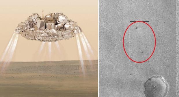 Schiaparelli, lo schianto della sonda su Marte a 300 chilometri orari: fotografato il luogo dell'impatto
