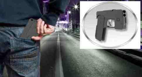 Fiumicino, allarme per la pistola-cellulare: sembra uno smartphone ma diventa una calibro 380