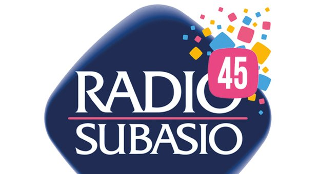 Il logo per il compleanno di Radio Subasio