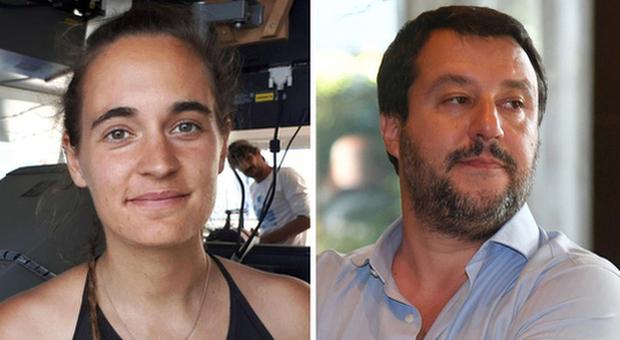 Salvini denunciato da Carola Rackete, parte la controdenuncia: «Signorina tedesca viziatella e di sinistra»