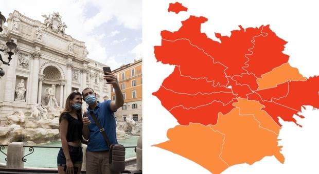 Roma, la nuova mappa del contagio: 2.035 positivi nell'ultima settimana, boom di casi a Primavalle