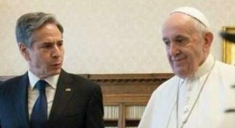 Segretario Usa Blinken dal Papa per la preparazione della #Cop26 di Glasgow e si parla anche di Cina