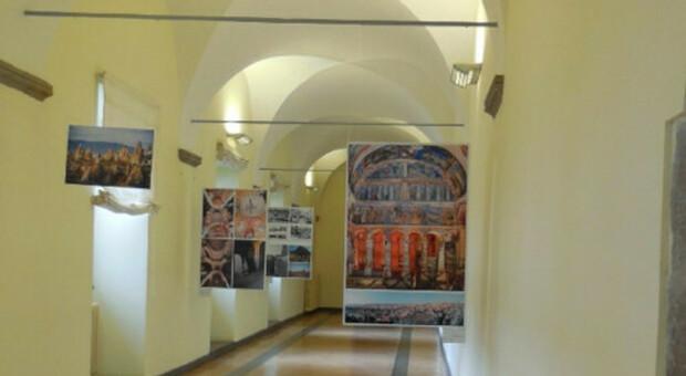 Rettorato S. Maria in Gradi: l'allestimento della mostra