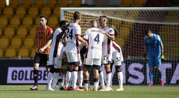 Serie A, Benevento-Cagliari finisce 3-1: non basta il gol di Lapadula al 16'