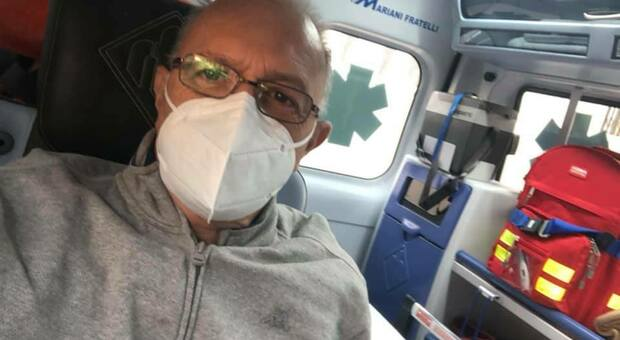 Giuseppe Bellachiona in ambulanza