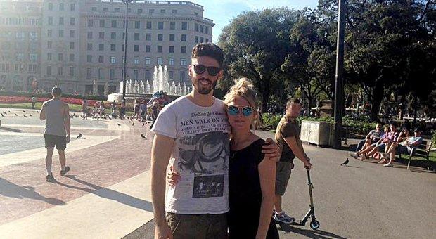Luca Sacchi con la ragazza ucraina
