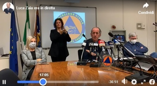 Covid, Zaia: «In Veneto allerta arancione in pochi giorni, oltre 50 ricoveri in poche ore»