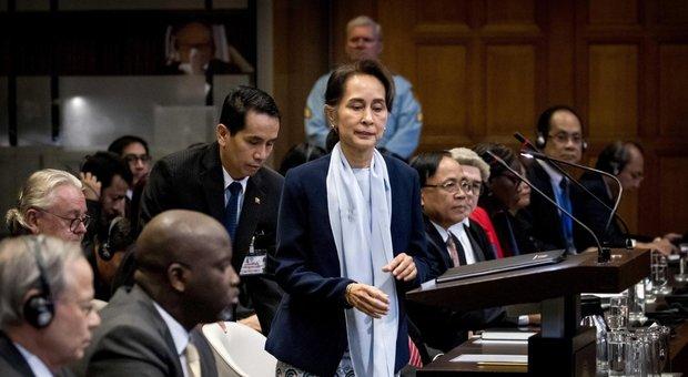 Aung San Suu Kyi all'Aja respinge le accuse: «Non c'è stato alcun genocidio dei Rohingya»