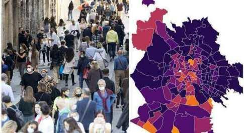 Variante Delta a Roma, contagi in aumento a Centocelle e Casilino: la mappa