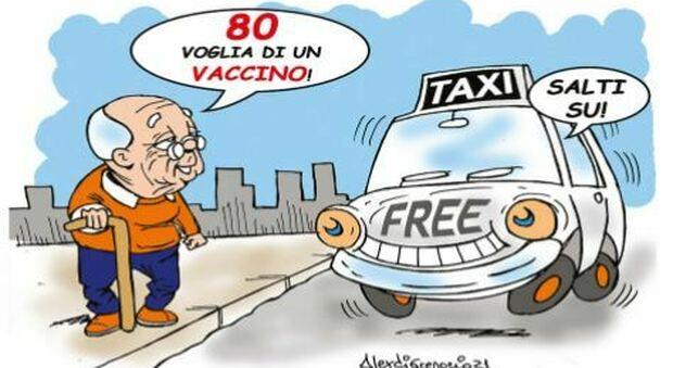 """Roma, taxi gratis per over 80 che vanno a fare il vaccino: l'iniziativa """"Ti accompagno io"""""""