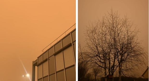 La Francia si sveglia con il cielo giallo-arancione: «E' la sabbia del Sahara»