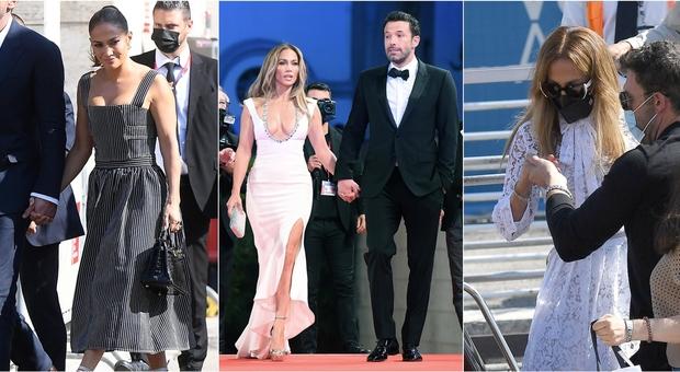 Jennifer Lopez a Venezia con Ben Affleck, tutti i suoi look dall'arrivo al red carpet