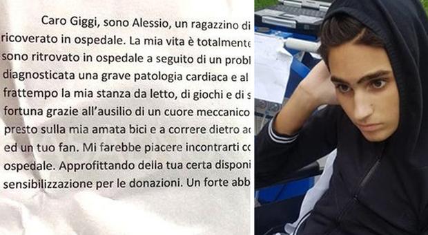 La lettera di Alessio all'idolo Buffon: «Gigi, vieni a trovarmi in ospedale»
