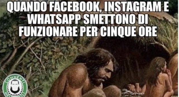 ​WhatsApp, Instagram e Facebook down: con i meme si scatena l'ironia
