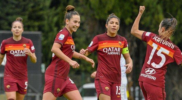 Calcio femminile, domani la Roma chiude il 2020: big match a Torino contro la Juve capolista