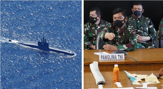 Sottomarino scomparso in Indonesia, trovati oggetti in mare: poche speranze per i 53 marinai