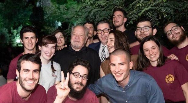 Paul Schrader con i ragazzi del Cinema America