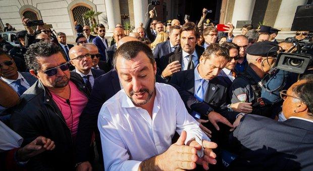 Matteo Salvini a Napoli